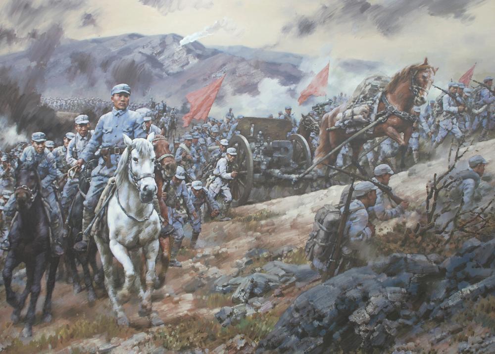 八路军115师挺进沂蒙山280公分X200公分
