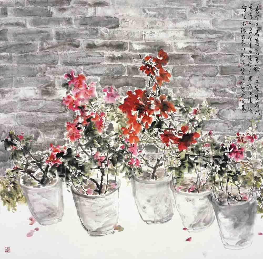 盆花138×138cm