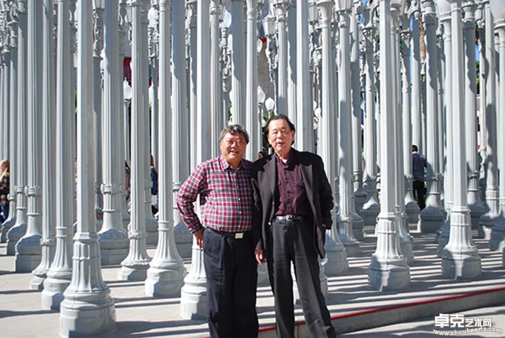 丁绍光先生和张此潜先生在美国洛杉矶合影