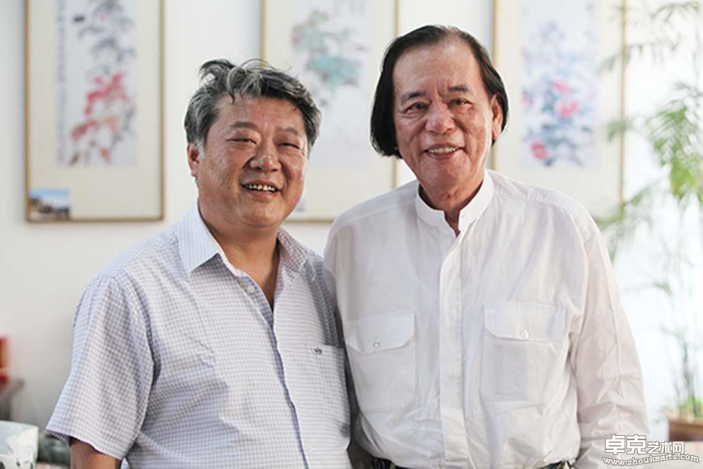 丁绍光先生和张此潜先生在淮北中国画研究院合影