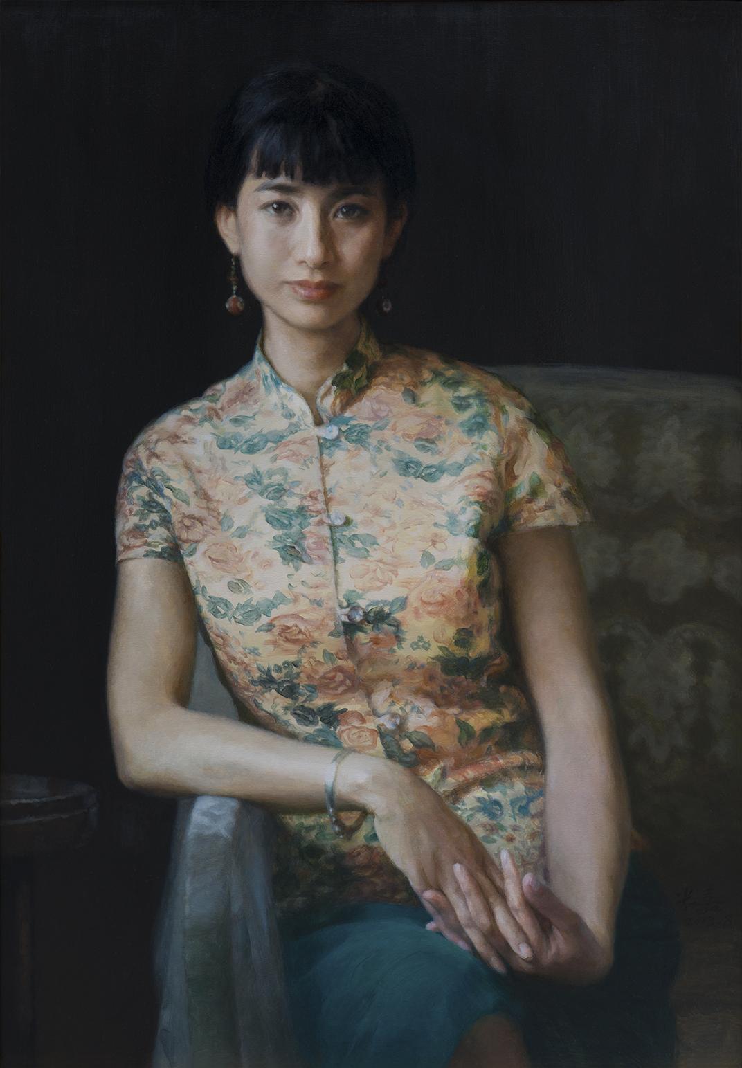 郝米嘉 阿姊 油画  140x97cm