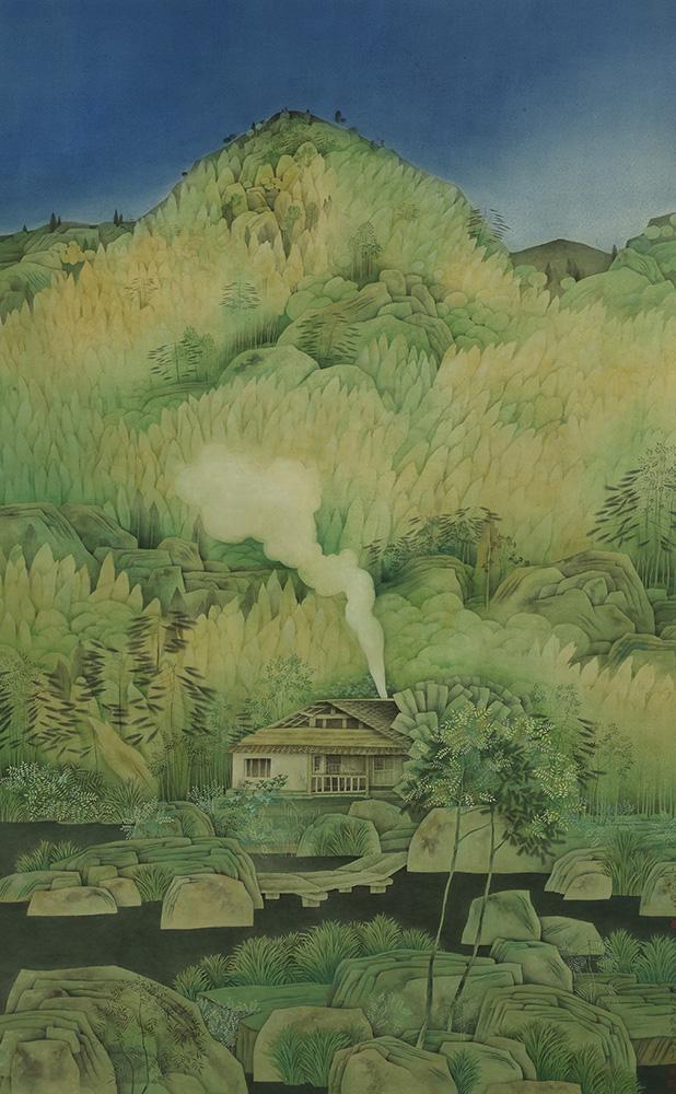 《竹山清音图》