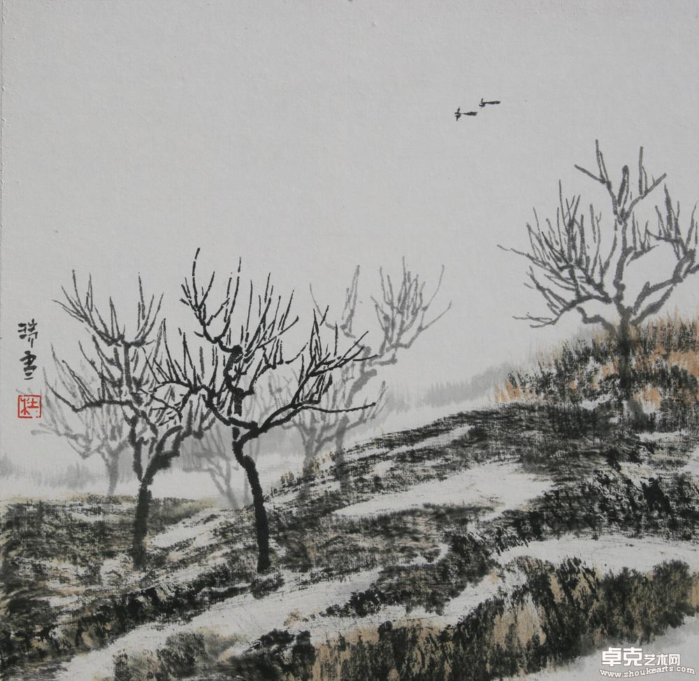喜雪35×35cm
