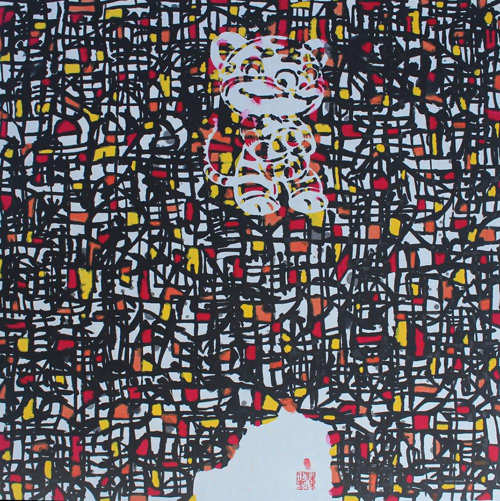 生肖系列·虎   68cmX68cm