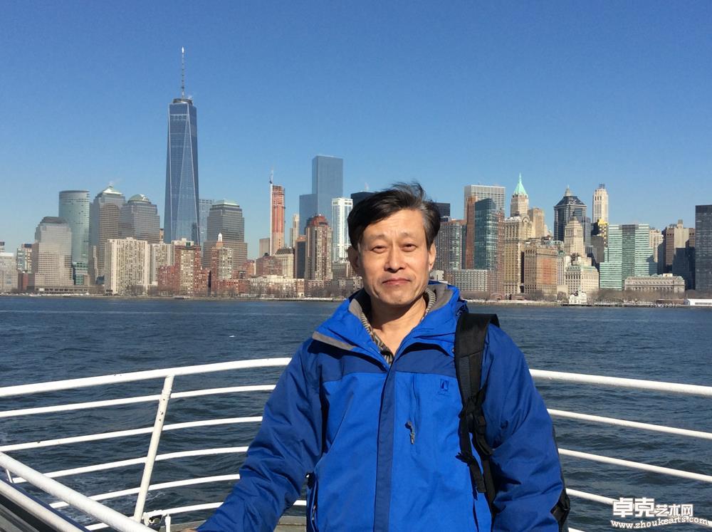 在纽约游船上