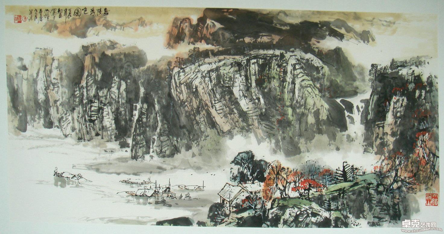 嘉陵春色图