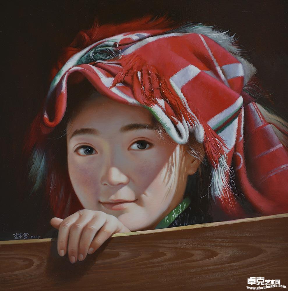 《戴红头巾的女孩》
