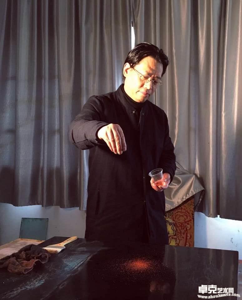 范福安老师创作现场