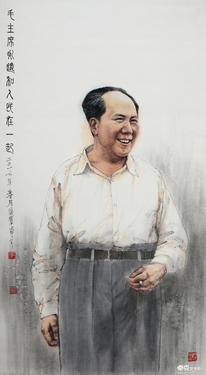 人民领袖毛泽东123x70cm