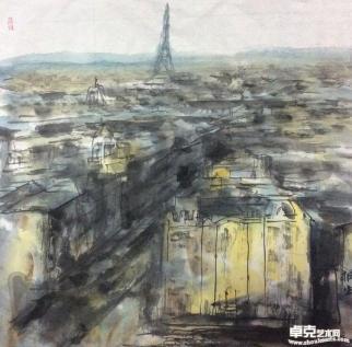 巴黎印象68*68cm