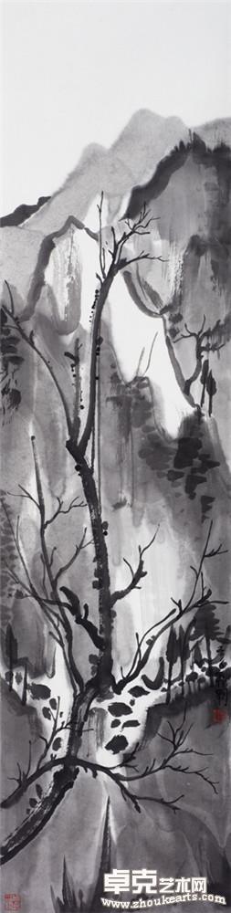山水日记之高树  136x34cm