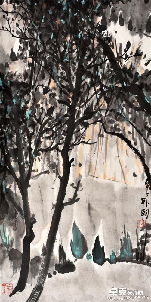 山水日记之树影 68x34cm
