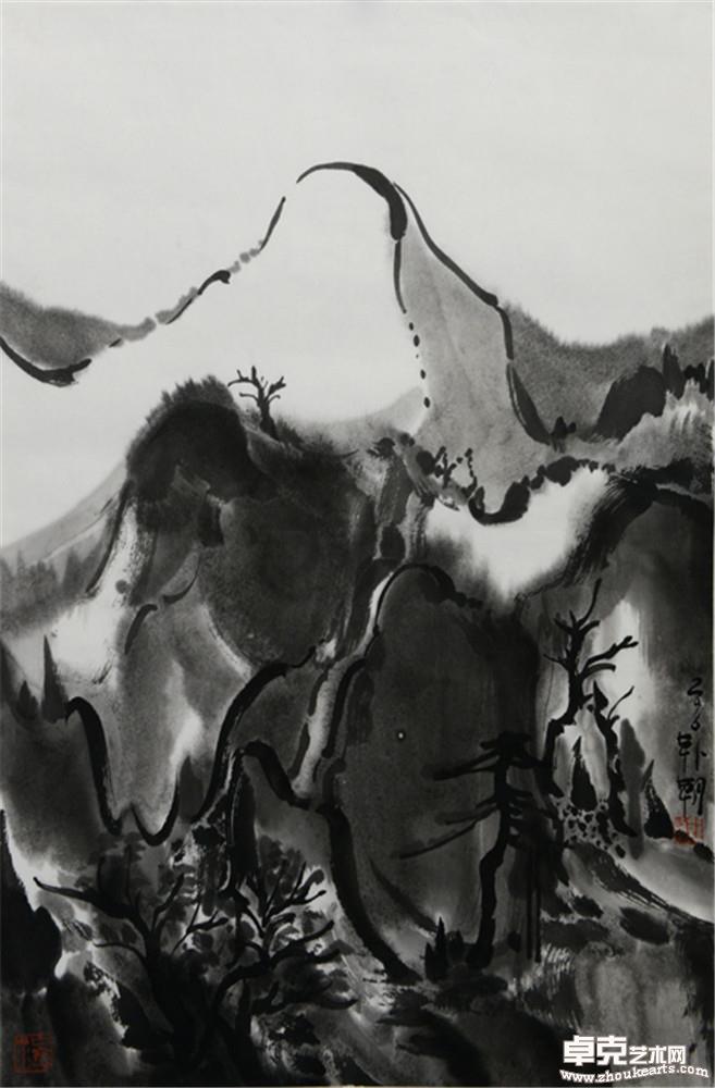夜山系列之白石  68x45cm