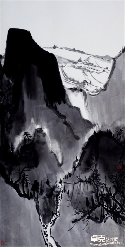 夜山系列之高塬 136x68cm