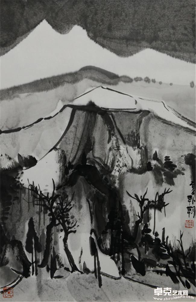 夜山系列之空山  68x45cm