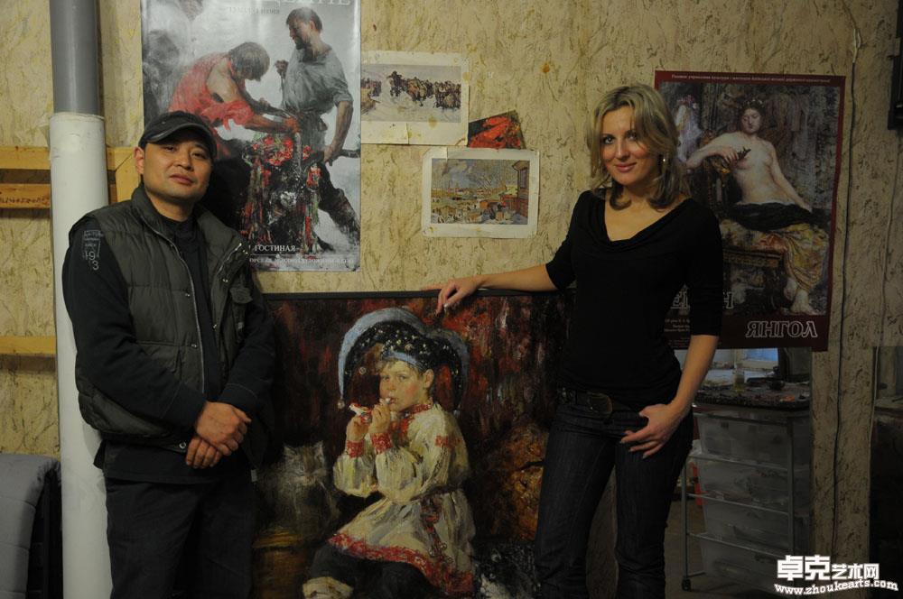 在著名画家安娜工作室