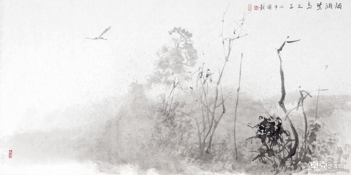 烟润鹭岛    139x70cm