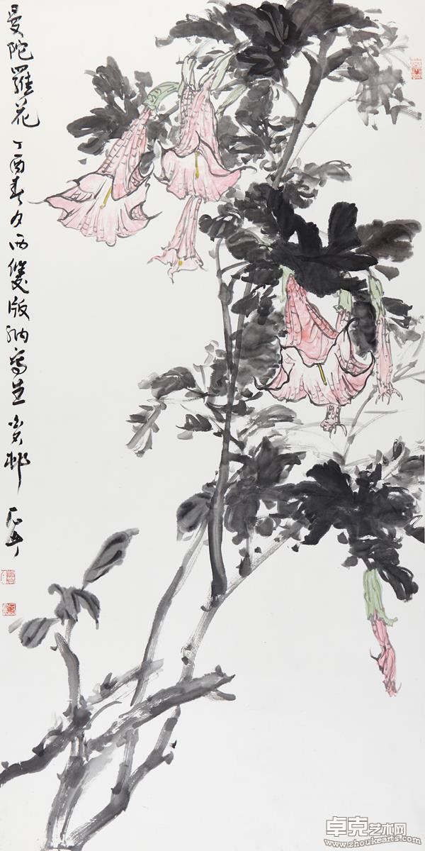曼陀罗花139X69 cm
