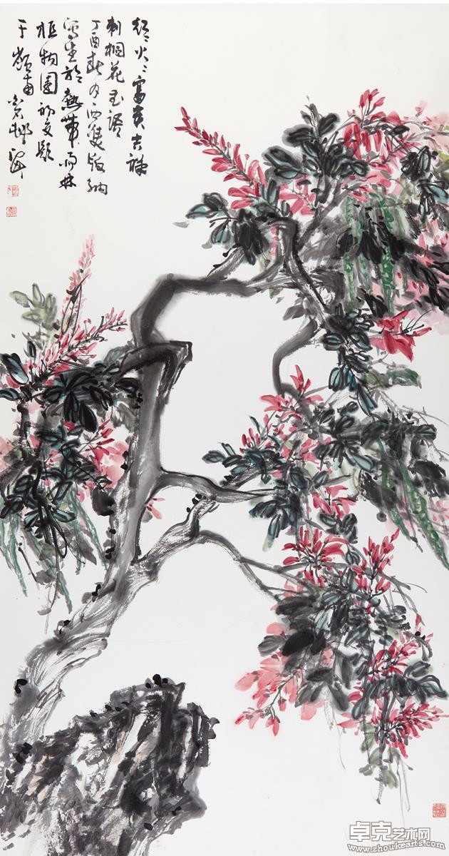 红红火火富贵吉祥(刺桐花)181X97 cm