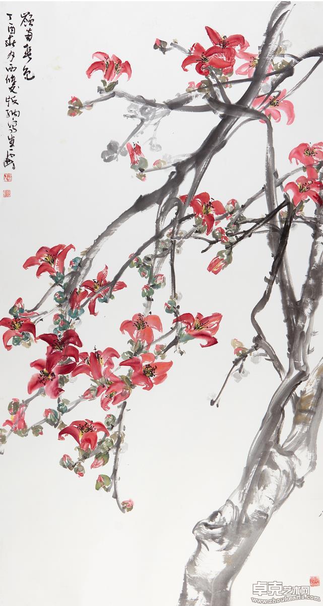 岭南春色(木棉花)181X97 cm