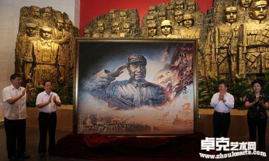 著名画家陈可之将创作的《朱德总司令》捐赠中国人民抗日战争纪念馆