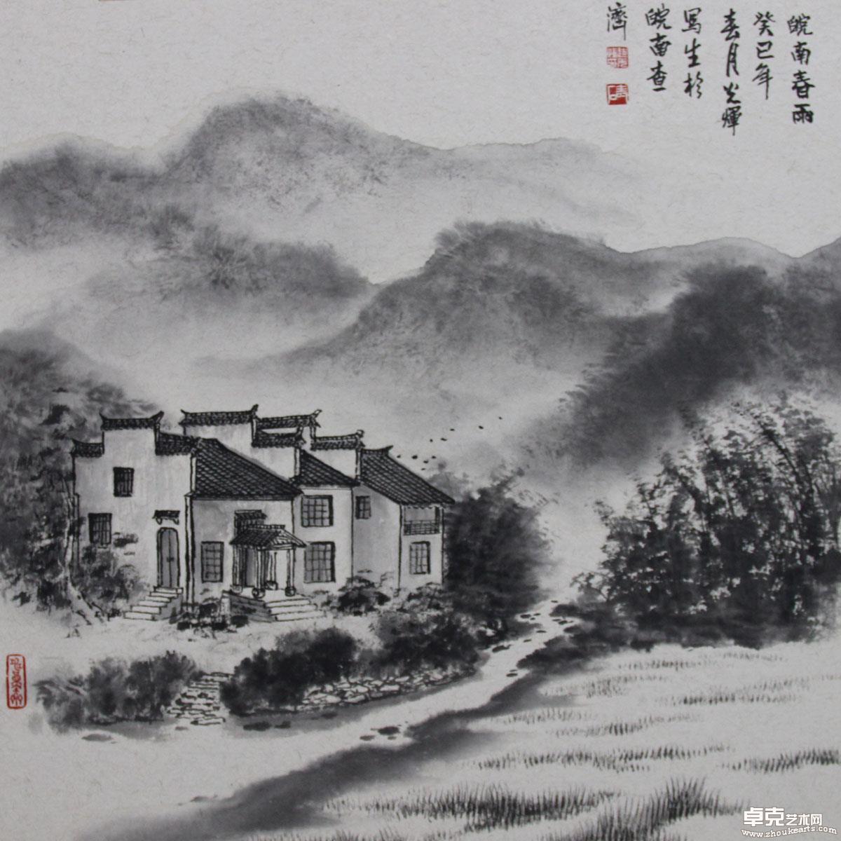 皖南春雨50x50cm