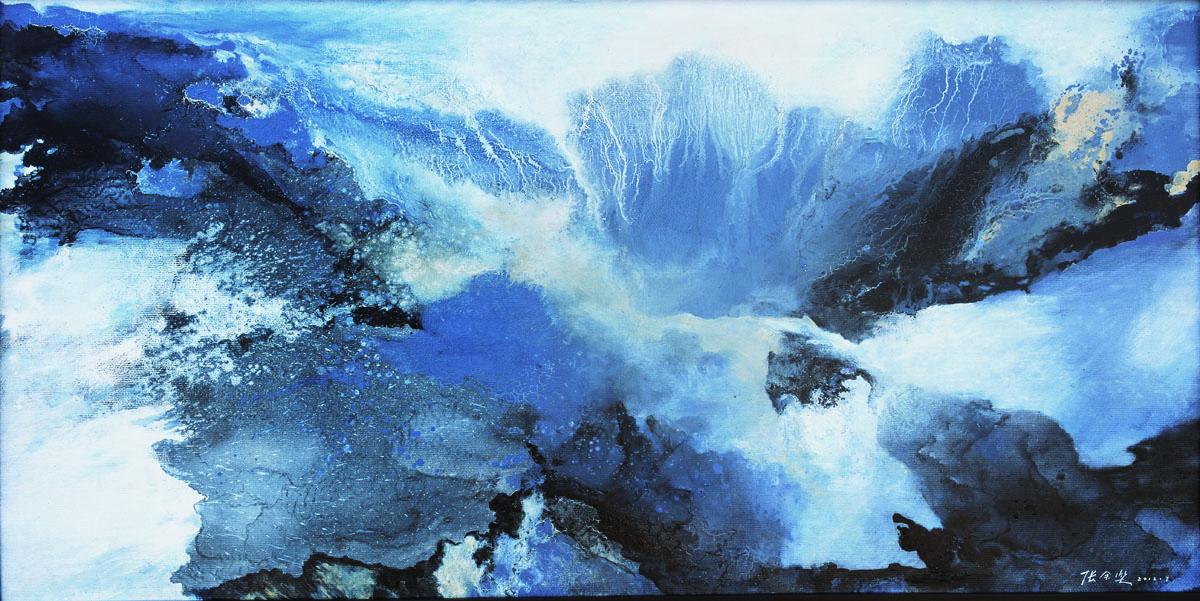 《云涌雨山 》60x120cm