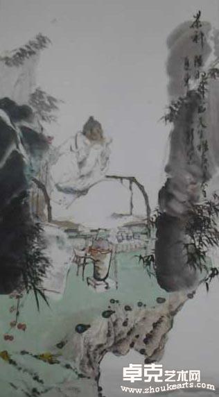 茶神陆羽130x69cm