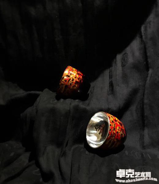 《漆彩银杯系列》