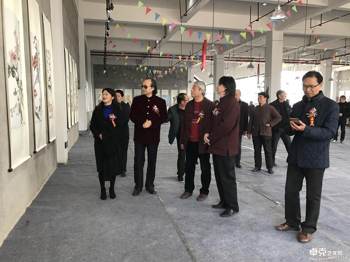 松阳县四套班子领导参观画展